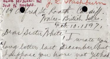 J.S. Washburn către E. White – 10 februarie 1897